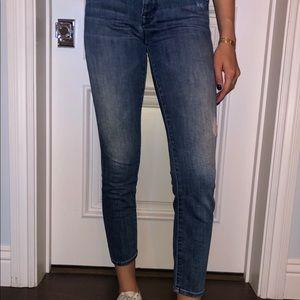 Mother medium wash jeans
